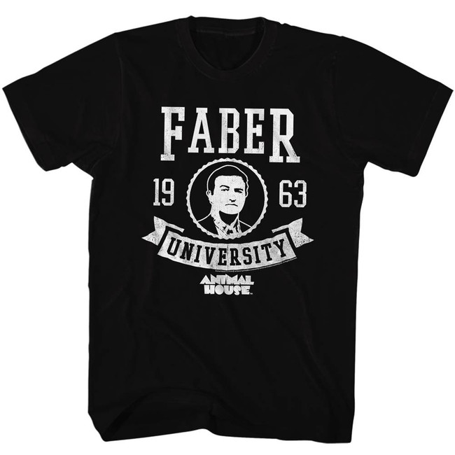 Animal House Faber Black Adult T-Shirt