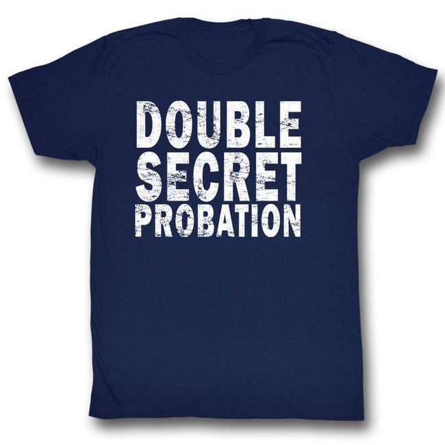 Animal House Double Secret Probation Navy Adult T-Shirt