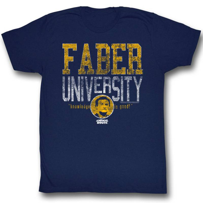 Animal House Faber University Navy Adult T-Shirt