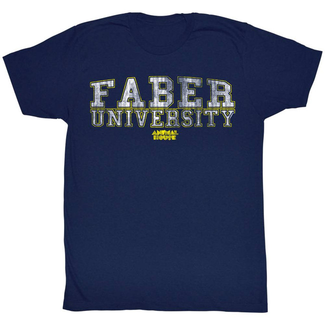 Animal House Germans Faber University Navy Adult T-Shirt