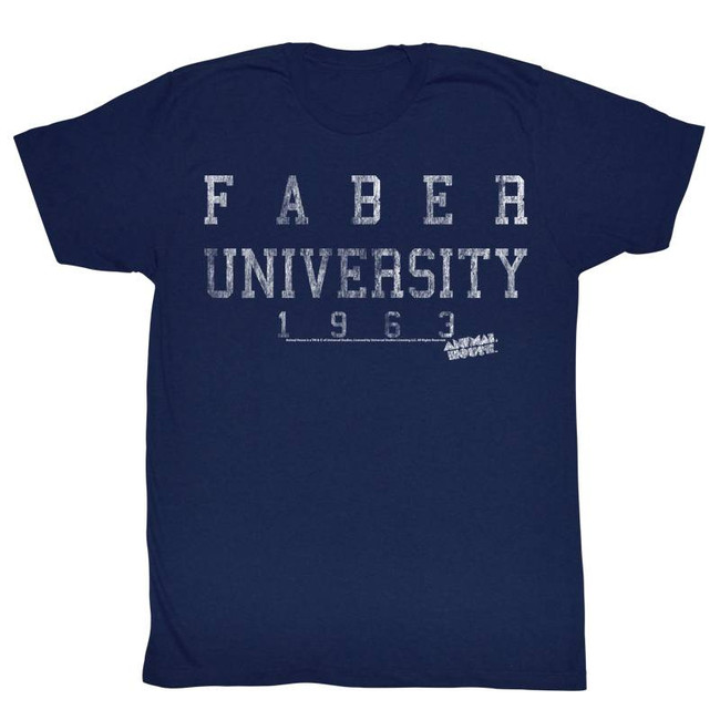 Animal House Faber University 1963 Navy Adult T-Shirt