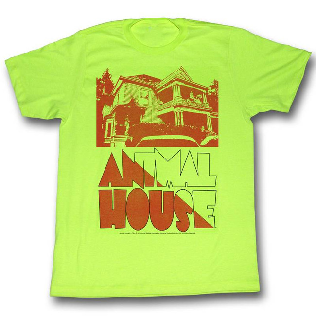 Animal House Frat House Neon Mint Adult T-Shirt