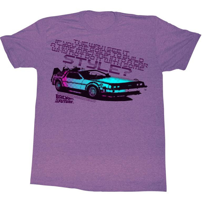 Back to the Future A Little Style Purple Adult T-Shirt