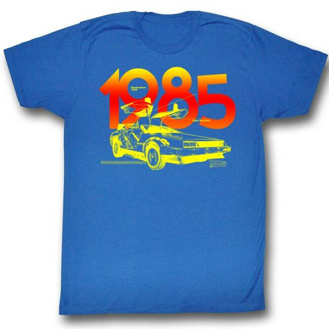 Back to the Future 1985 Royal Adult T-Shirt