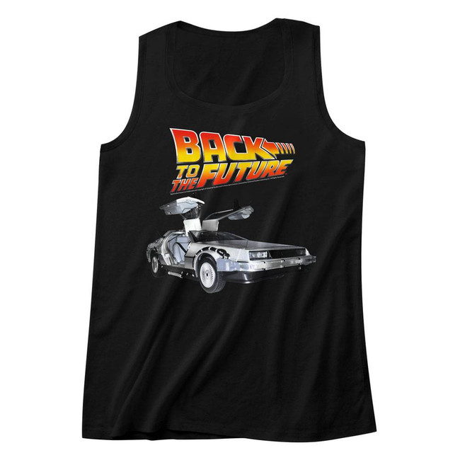 Back to the Future Car Black Adult Tank Top T-Shirt