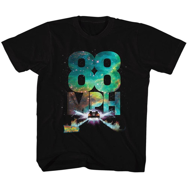 Back to the Future Galactic Speed Black Youth T-Shirt