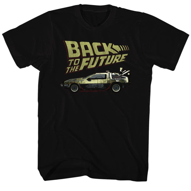 Back to the Future Black Adult T-Shirt