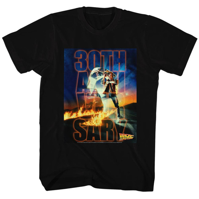 Back to the Future 30th Anniversary Black Adult T-Shirt