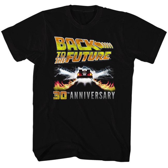 Back to the Future Classic 30th Anniversary Black Adult T-Shirt