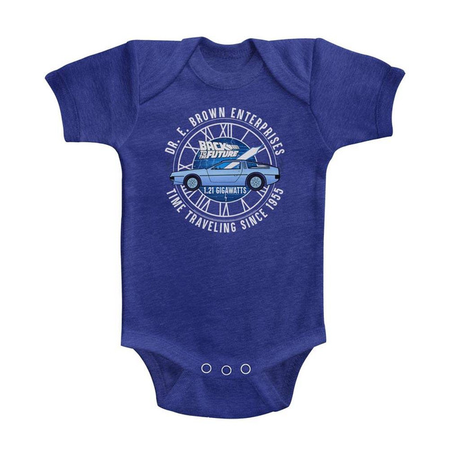 Back to the Future Dr. E. Brown Enterprises Vintage Royal Baby Onesie T-Shirt