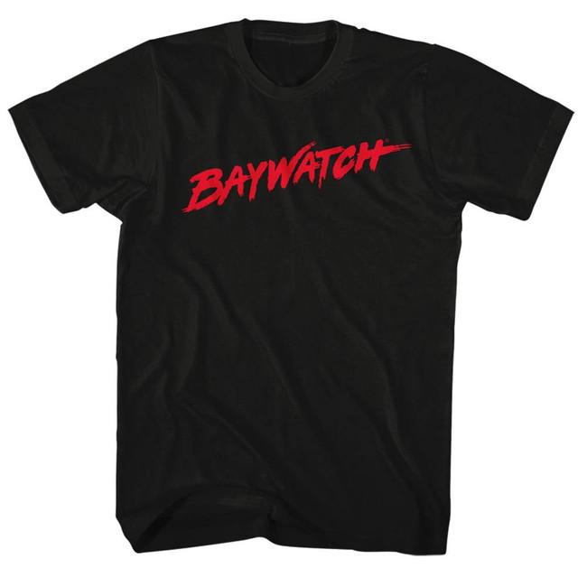 Baywatch Logo Black Adult T-Shirt
