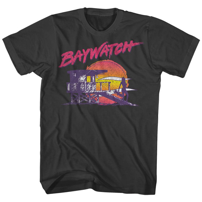 Baywatch Neon Watch Smoke Adult T-Shirt
