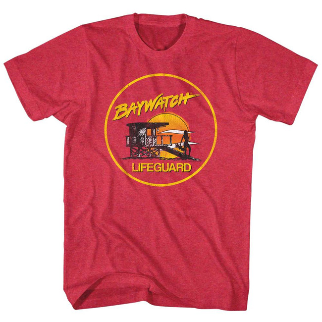 Baywatch Lifeguard Red Adult T-Shirt