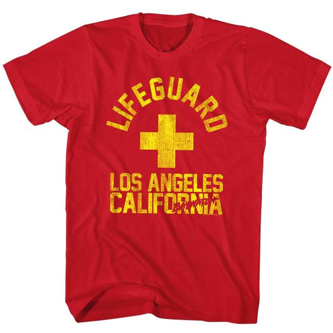 Baywatch La Guard Red Adult T-Shirt