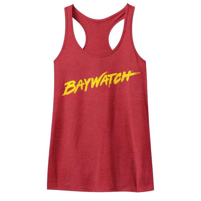 Baywatch Logo Tank Red Junior Women's Racerback Tank Top T-Shirt