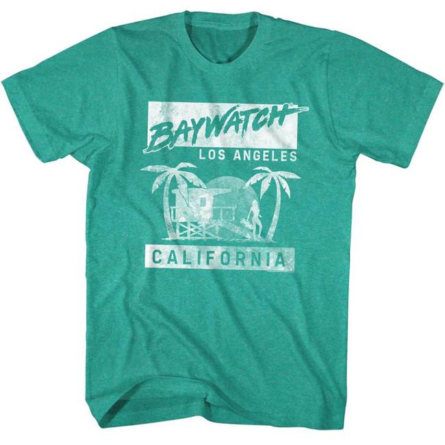 Baywatch L.A. Green Heather Adult T-Shirt