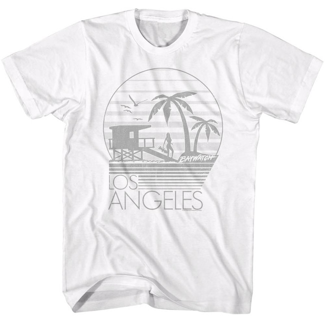 Baywatch L.A. White Adult T-Shirt