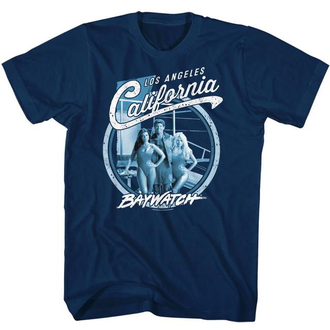 Baywatch Cali Bay Navy Adult T-Shirt