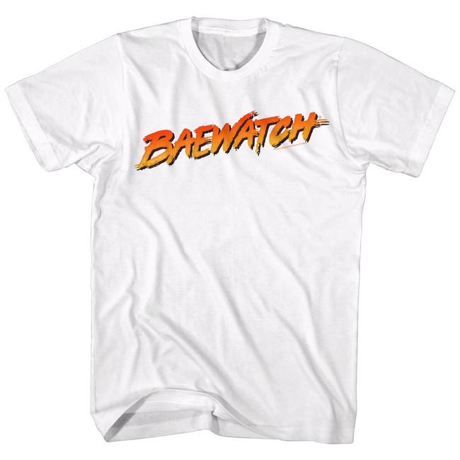 Baywatch Baewatch Logo White Adult T-Shirt