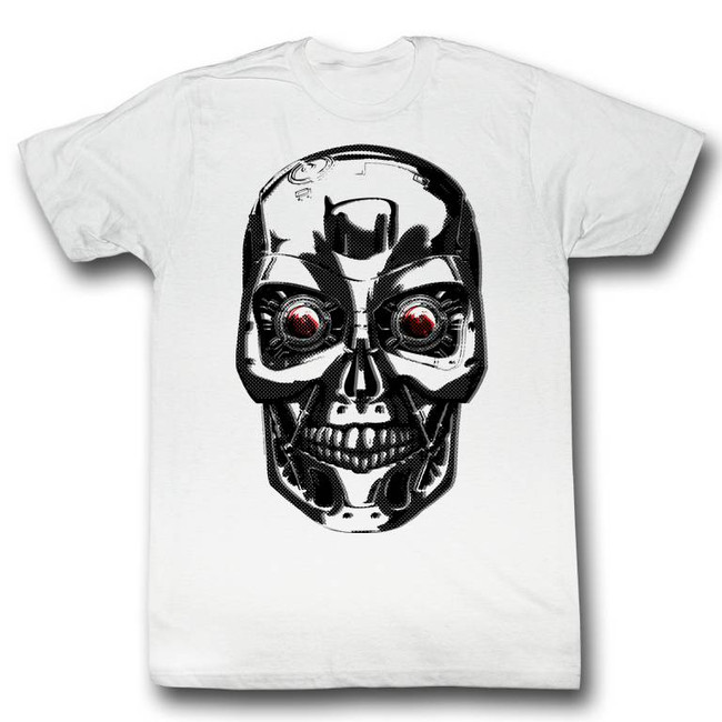 Terminator Stink Face White Adult T-Shirt