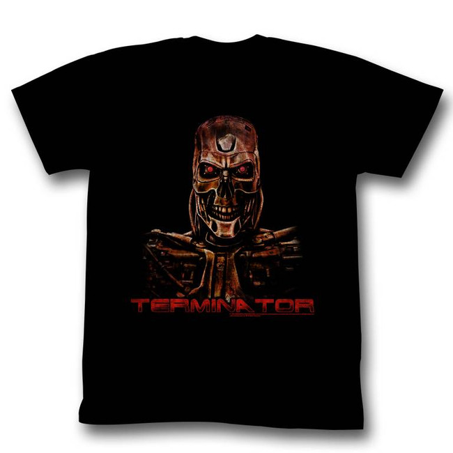 Terminator Code Red Black Adult T-Shirt