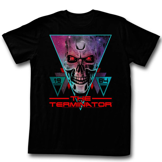 Terminator Space Face Black Adult T-Shirt