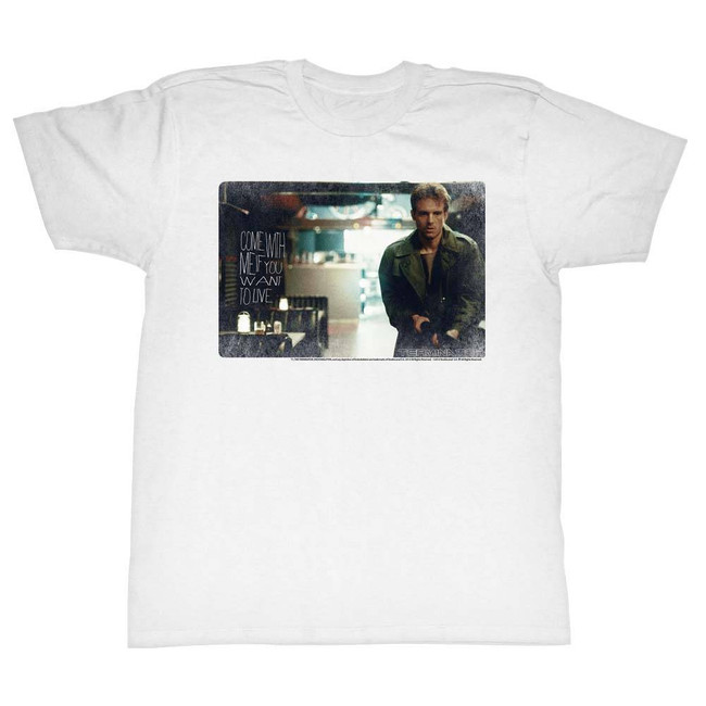 Terminator Kyle White Adult T-Shirt