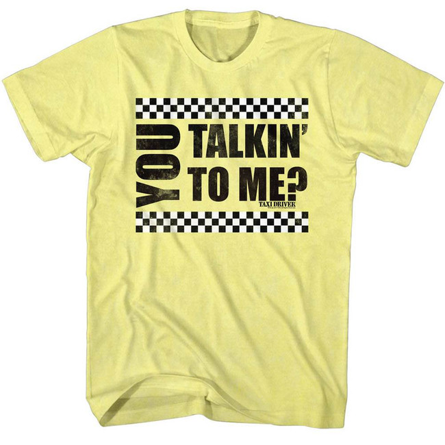 Taxi Driver You Talkin' To Me? Yellow Heather Adult T-Shirt