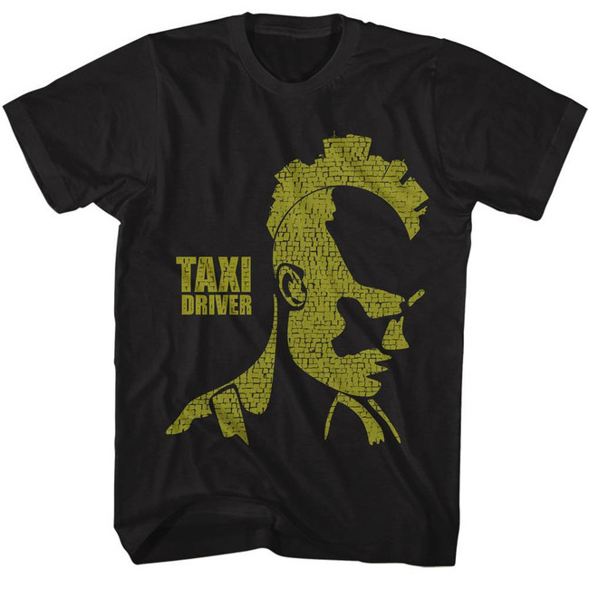 Taxi Driver City Mohawk Black Adult T-Shirt