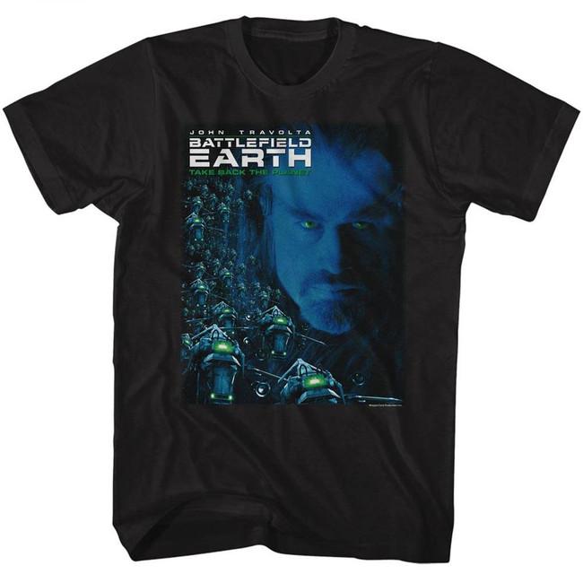 Battlefield Earth Movie Poster Black Adult T-Shirt