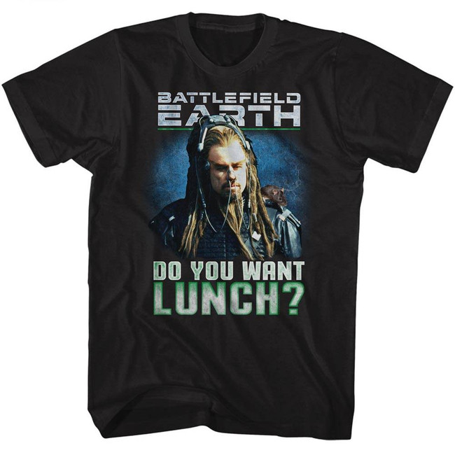 Battlefield Earth Lunch? Black Adult T-Shirt