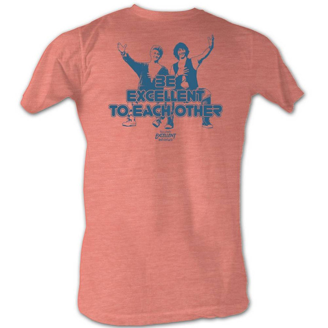 Bill and Ted Excellent Orange Heather Adult T-Shirt