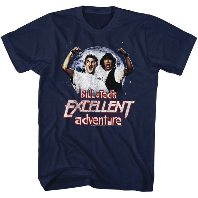 Bill and Ted Excellent Navy Adult T-Shirt
