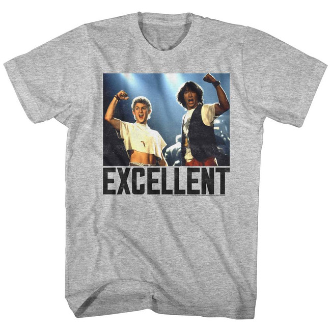 Bill and Ted Excellent Heather Adult T-Shirt