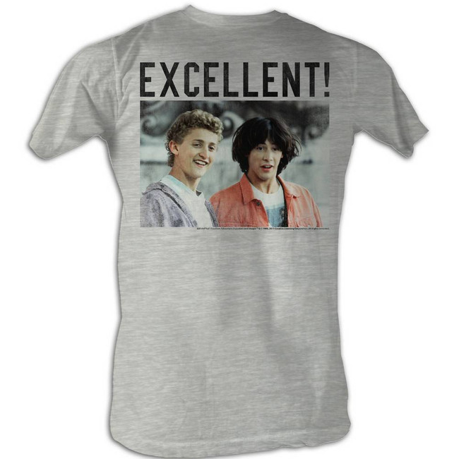 Bill and Ted 4 Square White Adult T-Shirt