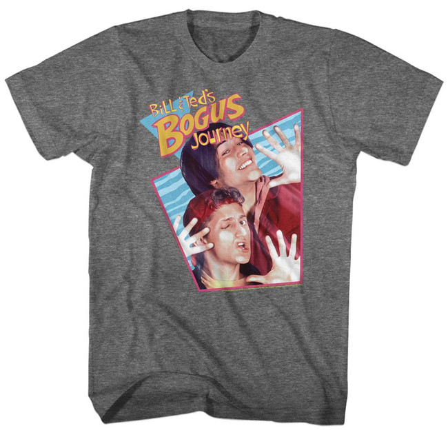 Bill and Ted Bogus Rhombus Graphite Adult T-Shirt