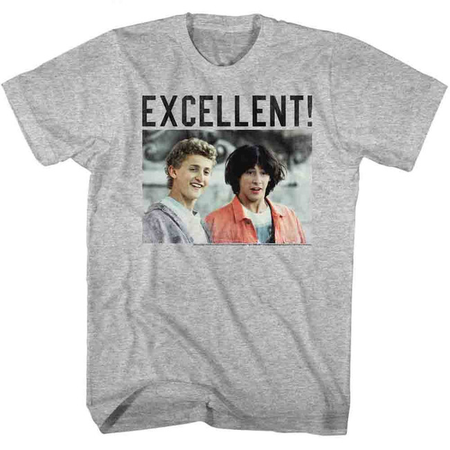 Bill and Ted Excellent Gray Adult T-Shirt