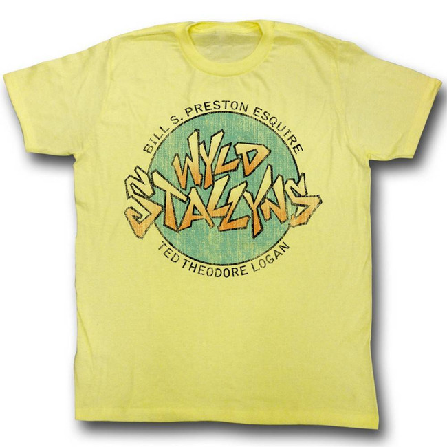 Bill and Ted Stallyns Yellow Heather Adult T-Shirt
