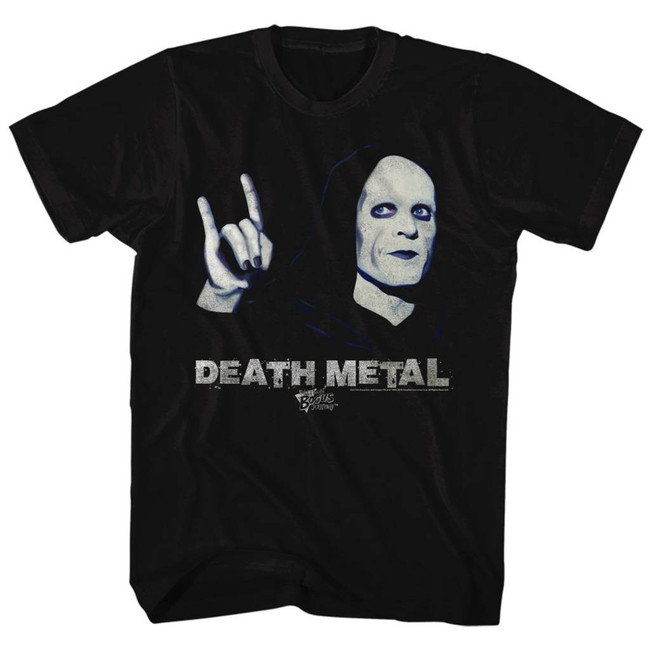 Bill and Ted Death Metal Black Adult T-Shirt