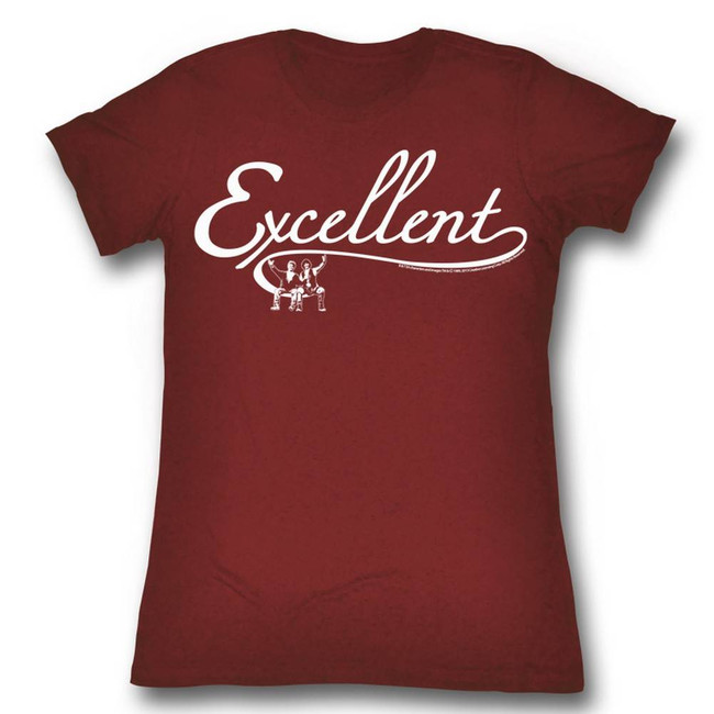 Bill and Ted Excellent Red Heather Junior Women's T-Shirt