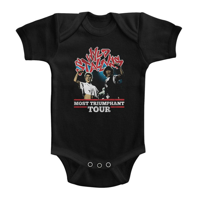 Bill and Ted Most Triumphant Black Baby Onesie T-Shirt