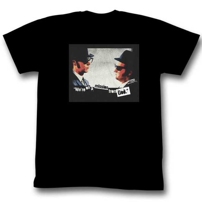 Blues Brothers Mission Black Adult T-Shirt