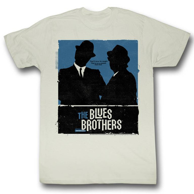 Blues Brothers Minimalism Natural Adult T-Shirt