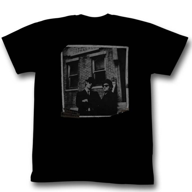Blues Brothers Orphanage Black Adult T-Shirt