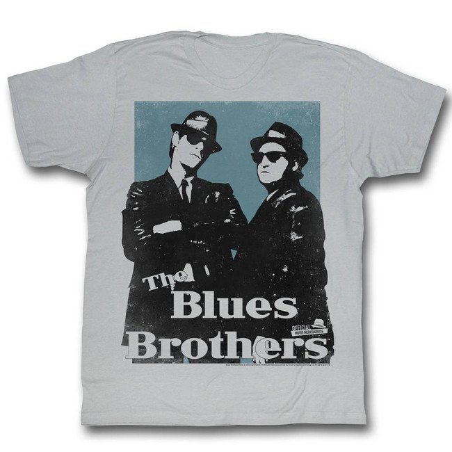Blues Brothers Big Blue Silver Adult T-Shirt