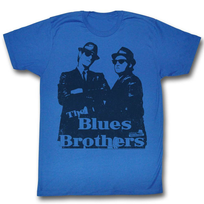 Blues Brothers Big Blue Royal Adult T-Shirt