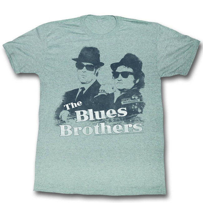 Blues Brothers Gray Heather Adult T-Shirt