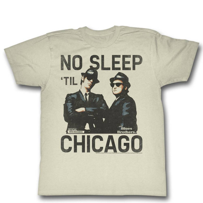 Blues Brothers No Sleep Natural Adult T-Shirt