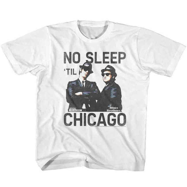 Blues Brothers No Sleep White Children's T-Shirt