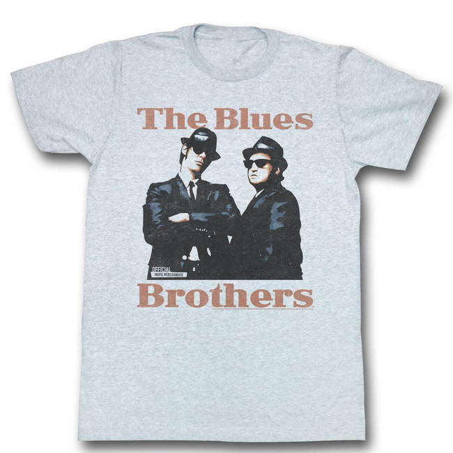Blues Brothers Gray Adult T-Shirt